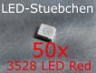 50x 3528 LED Rot