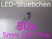 50x 5mm LED Pink