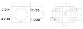 10x SK6805 MICRO 2427 RGB LED mit integriertem Treiber IC