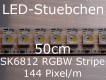 SK6812 RGBW Stripe 0,5m - LEDs mit integriertem WS2811 controller, 144 LED/m