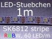 SK6812 RGBW LED Stripe - LEDs mit integriertem WS2811 controller, 60 LED/m, wie WS2812B