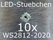 10x WS2812-2020 RGB LED mit integriertem WS2811 LED-Treiber IC