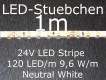 LED Stripe neutralweiss mit 120 LED/m, 3528, 24V, nur 5mm breit