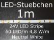 LED Stripe neutralweiss mit 60 LED/m, 3528, 24V, nur 5mm breit